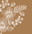 floral background template vector image