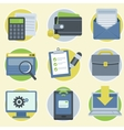 online business icons in flat style vector image