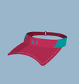 tennis cap object to play sport vector image