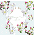Vintage Card with spring delicate flowers vector image