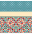 card with seamless floral wallpaper pattern vector image vector image