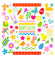 easter holiday icons vector image