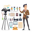 journalism elements set vector image