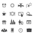 business time and daily routine icon set vector image