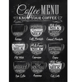 Coffee Menu cup chalk vector image