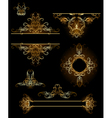design elements in gold vector image