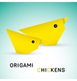 Chickens origami vector image vector image