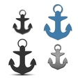 Icons anchor vector image
