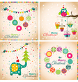 Template Christmas greeting cards vector image