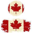 Canadian round and square grunge flags vector image