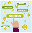 Business concept Success key word vector image vector image