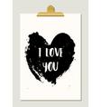 Black Heart Typographic Poster vector image vector image