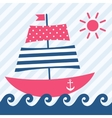 boat on the waves vector image