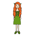 Elf Girl Cartoon vector image