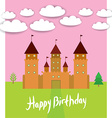 Card With Castle princess fairytale landscape vector image