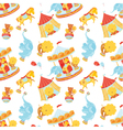 Circus pattern with animals vector image