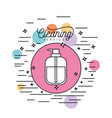 dispensing bottle cleaning service silhouette in vector image