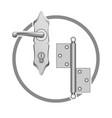 metall door accessories vector image