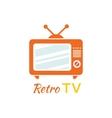 Retro Tv Logo Design Flat Icon vector image