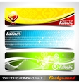 three abstract banner background vector image
