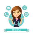 women contact us vector image