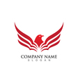 Falcon Logo Template vector image