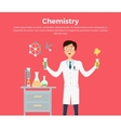 Chemistry Banner Concept Flat Style vector image