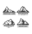 Hill or mountain rock silhouette icons set vector image
