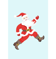Dancing Santa Claus on a blue background vector image