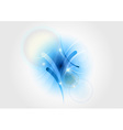 abstract blue light shape vector image vector image