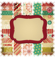 Scrap background made in the classic patchwork vector image vector image