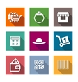 Shopping business flat icons set vector image vector image