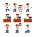 Set of Businessman Activities vector image