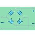 Diode bridge vector image