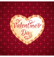 Retro shining heart for Valentines day vector image