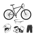 elements for bicycle or bike shop vector image