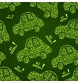 Go Green Car Seamless Pattern vector image