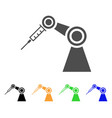 medical inject robot flat icon vector image