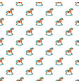 rocking horse pattern seamless vector image