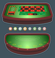 Roulette table blackjack vector image