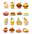 set cupcake vector image vector image
