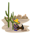 sleeping mexican vector image