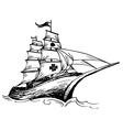 Columbus ship vector image