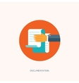 Flat paper document Emailing vector image vector image