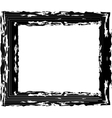 Abstract black grunge frame vector image