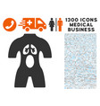 anatomy icon with 1300 medical business icons vector image