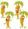 carrot - funny cartoon vector image