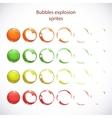 Funny cartoon colorful bubbles burst vector image