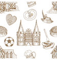 germany drawn seamless pattern vector image