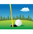 golf ball landscape vector image